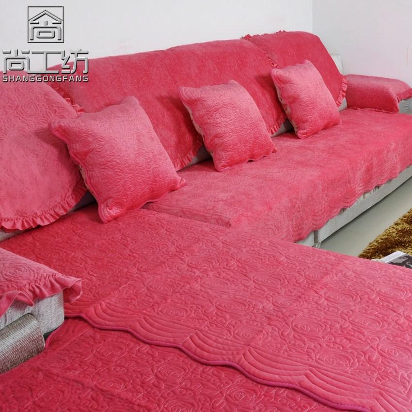 短毛绒 沙发垫 花