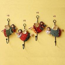 饰挂钩钥匙单钩地中海服装 复古怀旧欧式天使装 店铺门后壁挂衣帽钩
