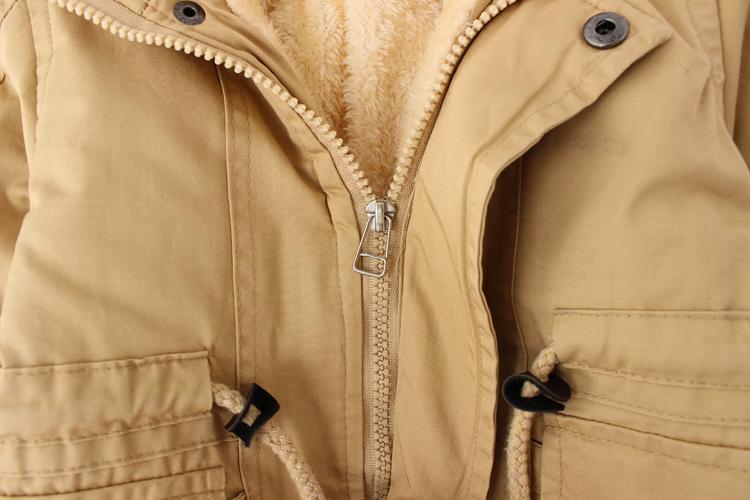 反季特价冬季男女童加绒加厚燕尾服棉风衣外套儿童中小童棉服纯棉