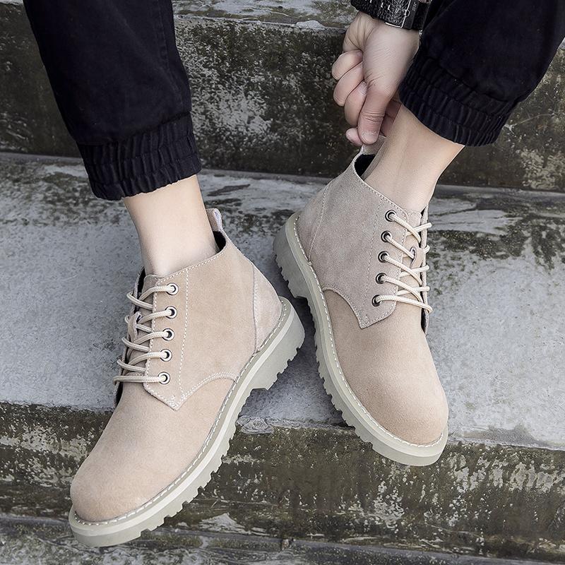 男靴反绒皮