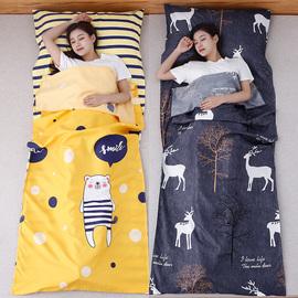 旅行成人住酒店隔脏睡袋大人宾馆出差双人情侣床单非纯棉夏季薄款图片