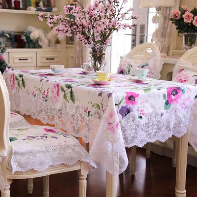 新款欧式田园风餐桌布长方形茶几布小清新蕾丝边台布圆桌布艺椅垫使用感受