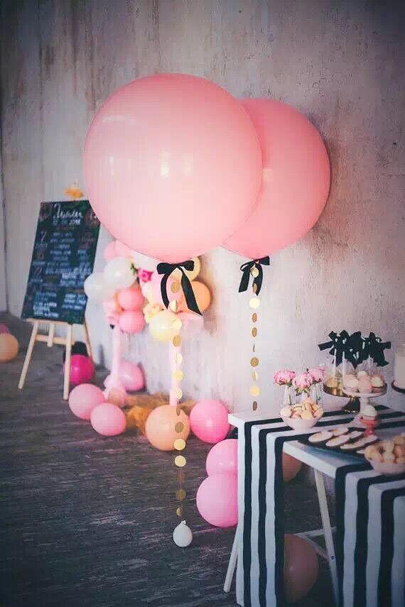 12-36寸进口嫩粉色气球生日布置浪漫派对氦气结婚礼装饰主题