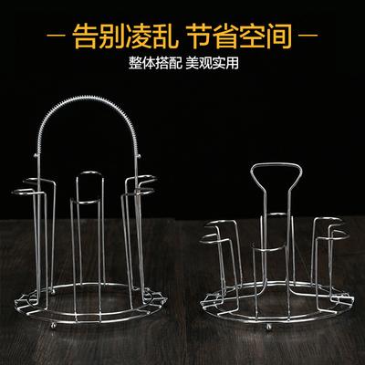 杯架不锈钢水杯挂架玻璃杯奶瓶沥水倒挂置物架茶杯架包邮带沥水盘