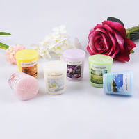 Aromatherapy candle smokeless small candle European cylindrical big candle creative candle romantic essential oil incense scented candle