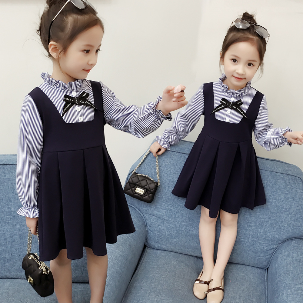 童装两件套连衣裙女孩