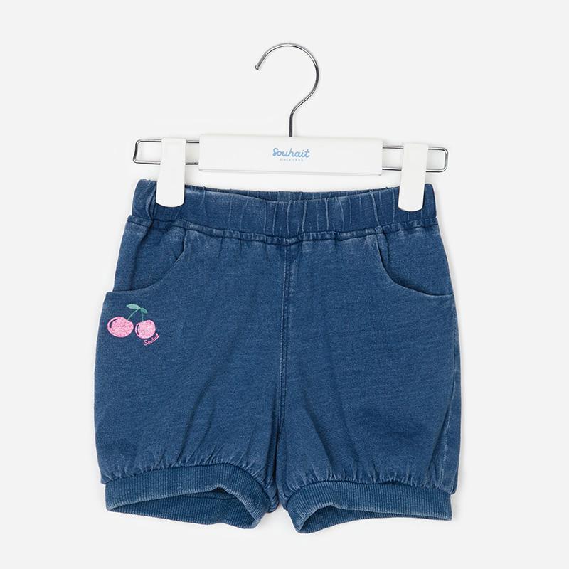 水孩儿童装女小童牛仔裤短裤夏薄款五分裤儿童裤子 AEHXL251