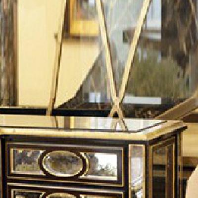 欧式 新古典家具 实木框架玄关柜桌 客厅 高档镜面玄关桌 玄关柜