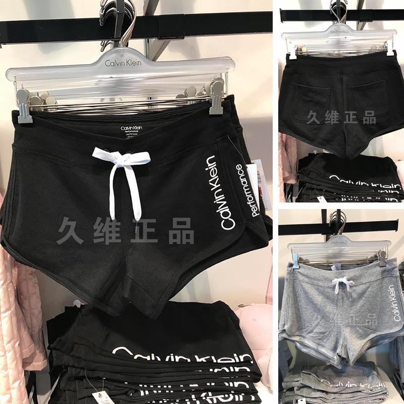 久维正品全球购CK Calvin Klein女士吸汗透气休闲运动logo短裤