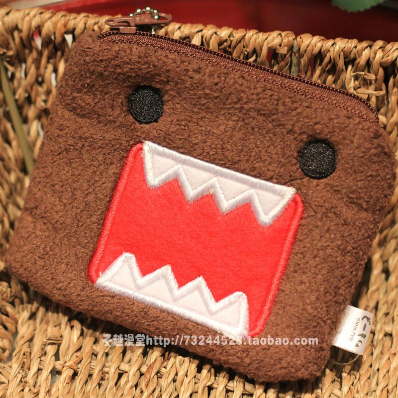 正品多摩君DOMO KUN 可爱卡通毛绒零钱包 手机卡包钥匙袋硬币包