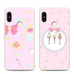 小米mix2s手机壳软胶全包边原创意个性可爱卡通粉色美少女战士潮