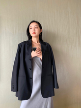 MARYME Spring 2019 New Quality Wool Classic Retro Three-grain Button Loose Black Small Suit Coat