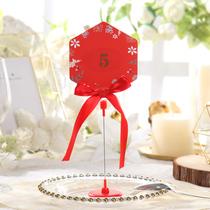 欧式婚礼桌卡席位卡婚庆嘉宾桌牌定制结婚宴酒席婆娘家席会议台卡