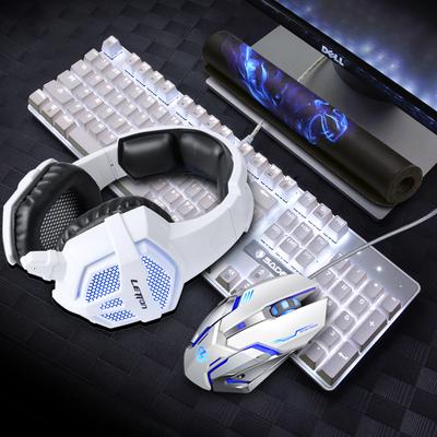 赛德斯真机械键盘鼠标耳机三件套装网吧网咖吃鸡电竞游戏外设键鼠新款推荐