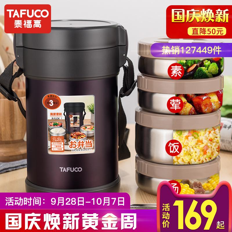 泰福高不锈钢保温饭盒