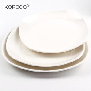 KORDCO密胺餐具酒店仿瓷四方盘菜盘水饺盘西餐餐盘意面盘子塑料盘