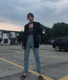 Del print edgy type who doesn't love it? Moon print denim pants/pants are worth hoarding 2
