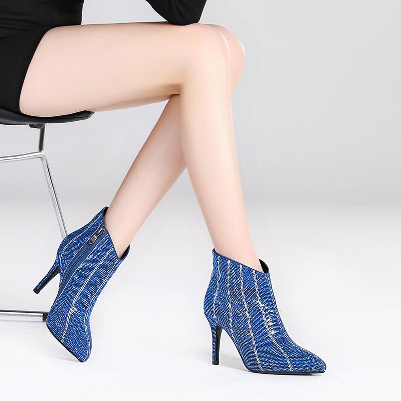 冬季女士靴子蓝色