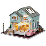 Wisdom House diy Cabin Queen's Town Handmade House Model Assembled Villa Send Girl Toys Creative Boys