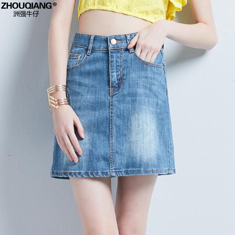 韩版牛仔超短裙