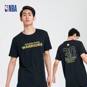 全棉男式短袖 夏装 库里 金州勇士队 T恤 新款 潮流拼接系列 NBA