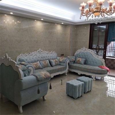 欧式布艺沙发123组合可拆洗客厅整装实木奢华小户型简欧欧式沙发正品热卖