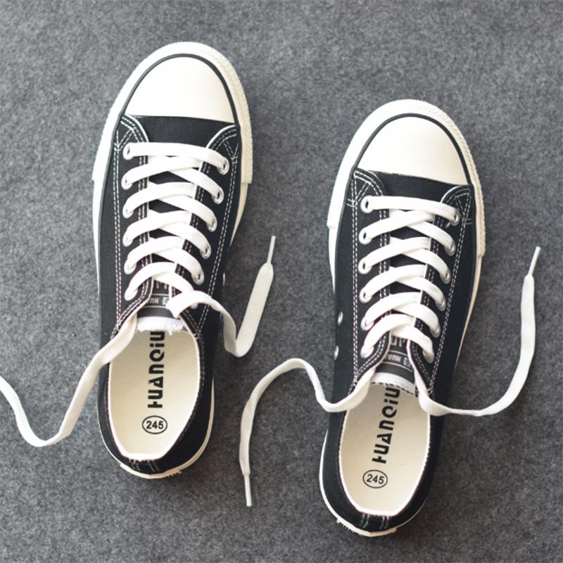 帆布鞋男低帮系带男士休闲鞋