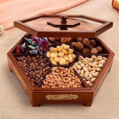 果盘创意木质客厅年货节折扣