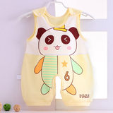 Summer clothes - thin new baby clothes - sleeveless one-piece baby clothes - cotton cartoon pajamas for boys and girls