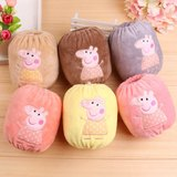 Infant children short children's sleeves winter cotton anti-staining face baby sleeves cute cartoon girls sleeves