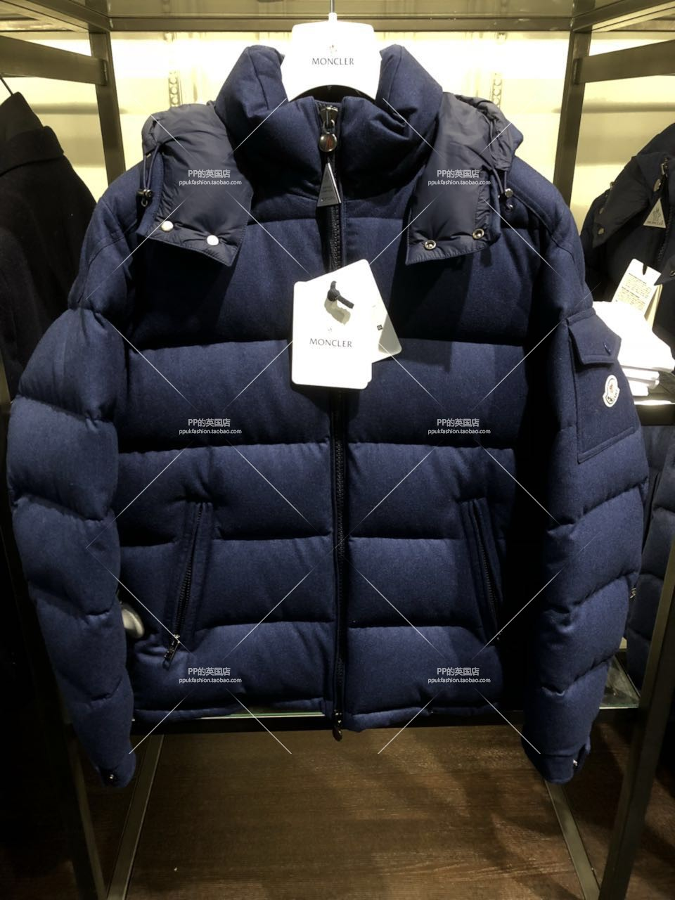 英国正品代购Moncler男士秋冬保暖连帽拉链短款外套折后6480