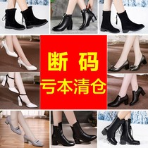 春季新款女鞋粗跟中跟休闲鞋英伦风圆头深口鞋低跟单鞋2018壹漫妮