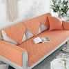 橙色布艺沙发