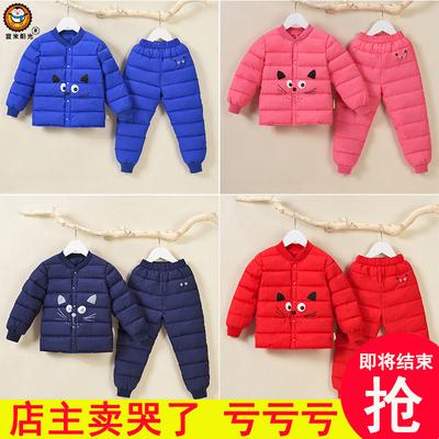 反季秋冬新童装儿童羽绒棉服内胆套装婴幼儿宝宝棉裤男女童两件套