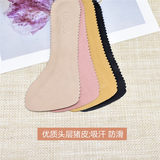 Head layer pigskin sandals slip insole absorbent pad heels half-leather shoes, fish head Ms. self-adhesive pad seven
