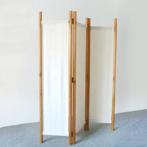 日式亚麻布屏风折屏客厅餐厅隔断家具实木玄关茶室酒店风水屏风