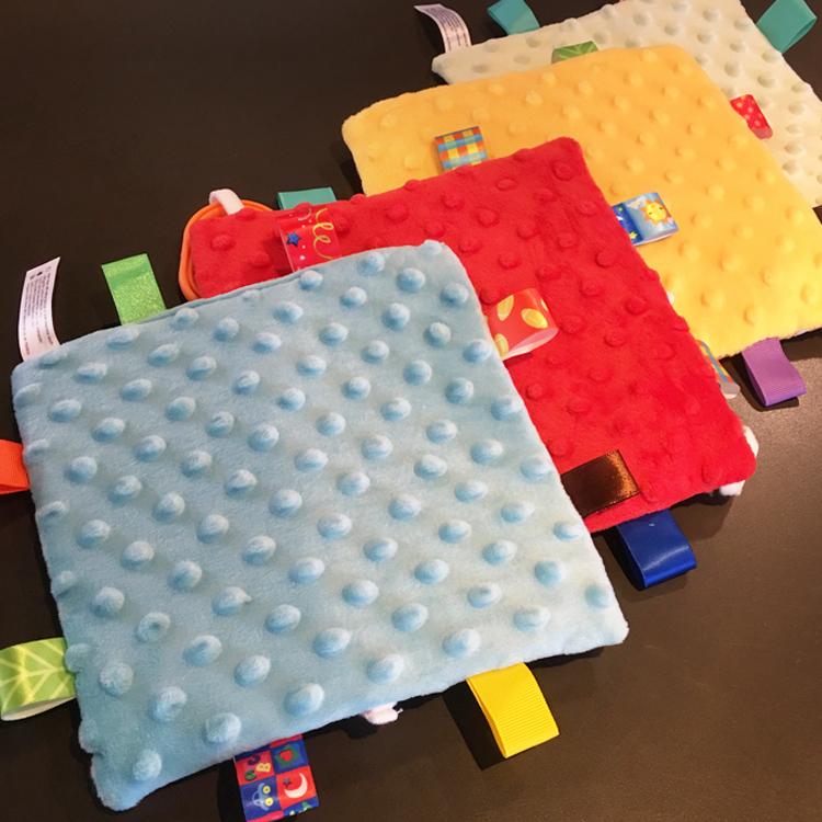 婴儿卡通标签安抚巾挂件 安抚宝宝 带响纸摇铃挂环 婴儿玩具0-1岁