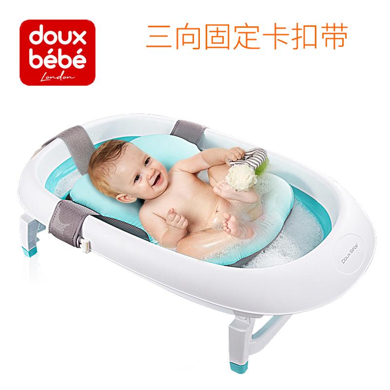 洗澡婴儿浴盆新生儿通用可坐躺防滑海绵垫