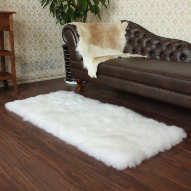 定制羊皮毛地毯