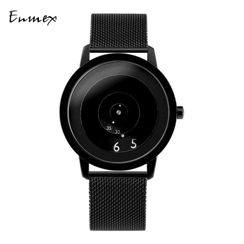 节日礼物男表Enmex焦点概念手表 设计师创意设计炫酷气质简约腕表