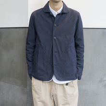 Lab store daily collar jacket jacket, male French casual wear Navy Chore Jacket