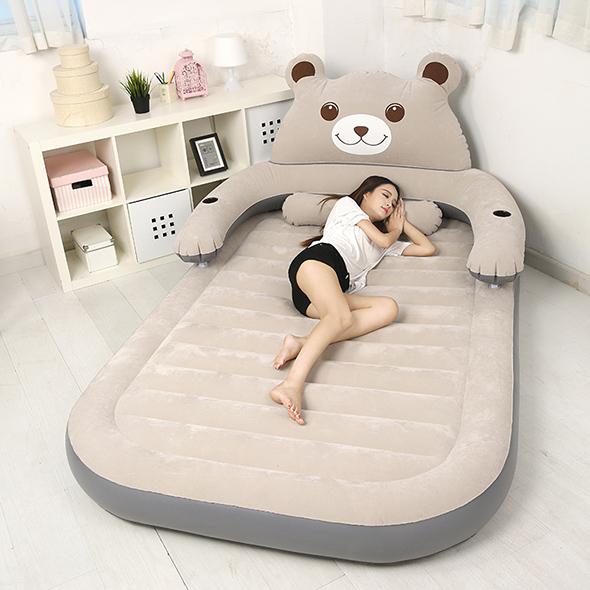 龙猫床垫榻榻米懒人沙发单双人情侣床垫家用便携充气床卡通熊地铺3元优惠券
