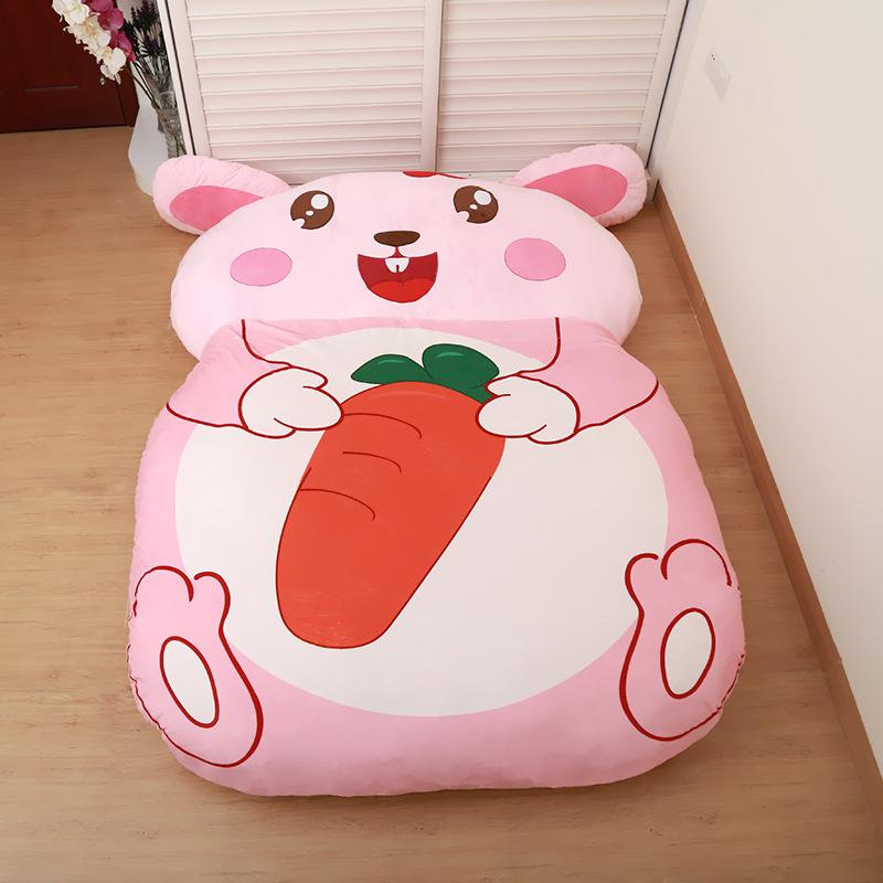 可爱龙猫床榻榻米地铺懒人卧室加厚垫子儿童卡通床垫学生宿舍睡袋1元优惠券