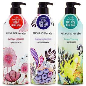 韩国正品爱敬洗发水护发素套装香水型香味持久留香女士花香无硅油