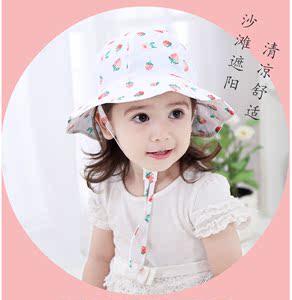 婴儿帽宝宝帽女童1个月-6岁大檐帽婴幼儿女盆帽渔夫帽太阳帽春夏