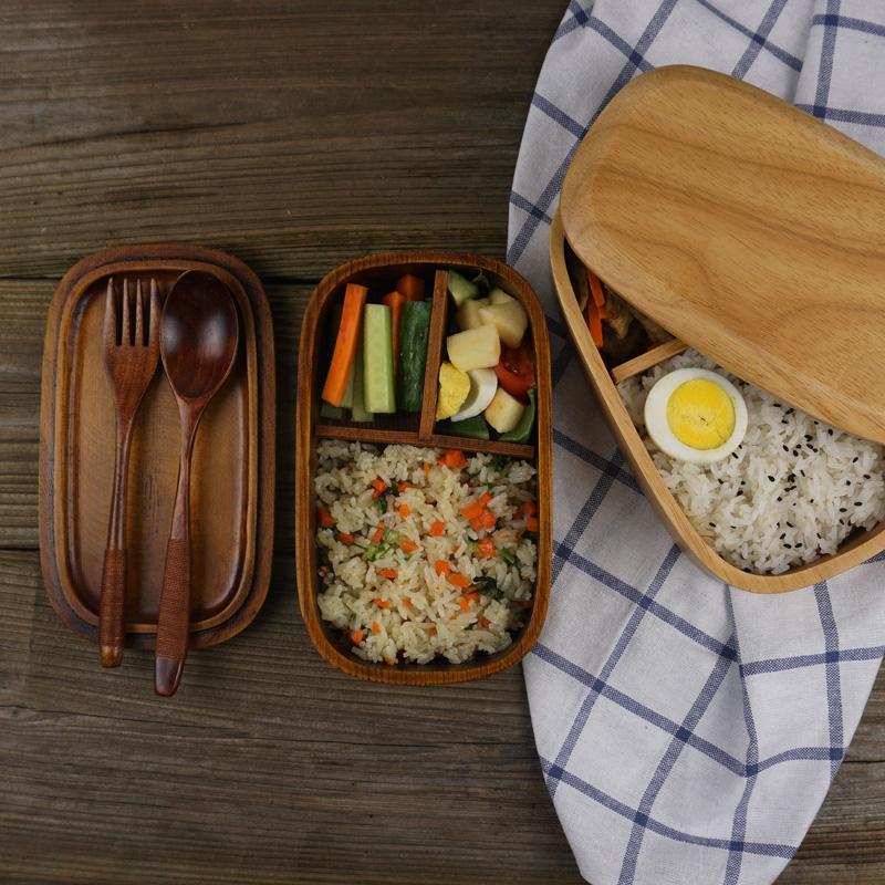 日式饭盒 木质