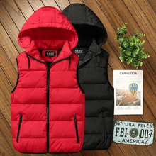 2008 new couple feather cotton vest, autumn cotton vest, winter cotton jacket, Korean version, thicker vest, large jacket shoulder