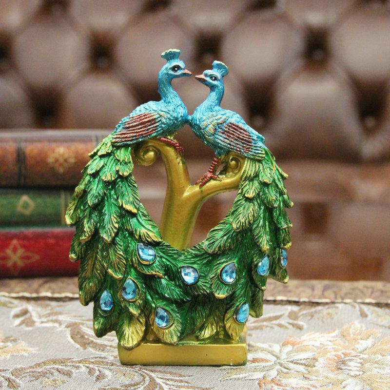 客厅装饰摆件工艺品孔雀开屏