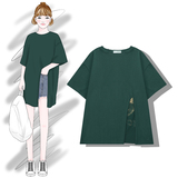 [front] MECITY summer 2018 new cotton round neck personality letter printing Korean short-sleeved t-shirt female