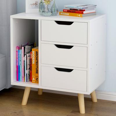 白色黄色宽50*深30*52cm简约卧室床头柜2 3抽屉收纳柜置物柜边柜新款推荐